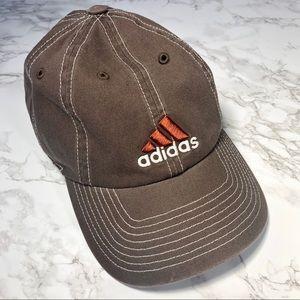 Adidas embroidered logo brown cotton baseball hat